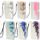Bling Diamond PU Leather Wallet Flip Case Cover For Samsung Galaxy S4 i9500 JZBB