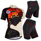 Women's Sportwear Bike Bicycle Clothing Short Sleeve Cycling Jersey & Shorts Set