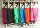 NEW Stretch CAPRI LEGGINGS Pants Fun TRENDY Colors 5/6 7/8 Minimal Seams Light