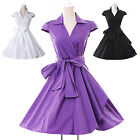 New Designer 1950 1960 Vintage Retro Pinup Swing Evening Party Dress