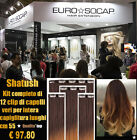 EURO SOCAP SHATUSH HAIR EXTENSION KIT FASCE CON 12 CLIP REMY MADE IN ITALY