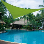 Sun Shade Sail UV Top Cover Canopy 12' Triangle for Outdoor Patio Lawn Backyard