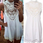 Sexy Women Lace Chiffon Party Evening Summer Ladies Short Beach Dress Vogue