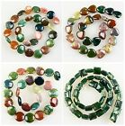 J59523 Indian agate traffic circle heart-shaped square loose beads