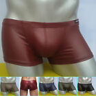 NEW Salable❤ Sexy Men's Faux Leather Underwear Boxer briefs enhance Cozy Pack
