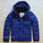 Hollister Men Warm Jacket Puffer Coat Quilted Hooded Outerwear Abercrombie Sz M