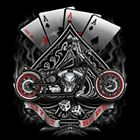 ACES LET IT RIDE CHOPPER BIKER SWEAT SHIRT BLACK W/FREE HARLEY DECAL