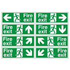 Fire exit signs 400x150mm Rigid Plastic Sign, choose arrow direction