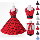 Vintage Retro 8 Color Polka dot Swing Jive 50's Housewife pinup Rockabilly Dress