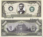 16th President Abe Lincoln 1861-1865 Bill Notes 1 5 25 50 100 500 or 1000