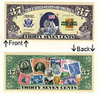 Thirty Seven Cents U.S. Postal Novelty Bill Notes 1 5 25 50 100 500 or 1000