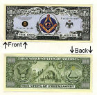 Free Masons FREEMASONRY Million Dollars Novelty Notes 1 5  25 50 100 500 1000