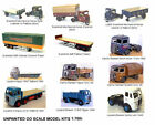 OO Scale Model Kits Vehicles /Lorrys/ Trucks/ Tractor Units/Trailers