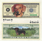 Dachshund Million Doggie Bones Bill Novelty Notes 1 5 25 50 100 500 or 1000