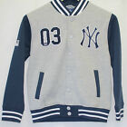 KIDS MAJESTIC ATHLETIC BASEBALL NEW YORK YANKEES JACKET GREY MARL SIZE 8-10 YRS