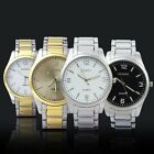 Men's Watch Dial Band Hours Steel Analogue Quartz Wrist Watches Wristwatches