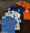 NWT Ralph Lauren Boys S/S Big Pony Solid Mesh Polo Shirts 8 10/12 14/16 NEW 4f