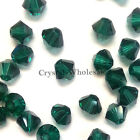 3mm Emerald (205) Genuine Swarovski crystal 5328 / 5301 Loose Bicone Beads