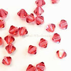 3mm Indian Pink (289) Genuine Swarovski crystal 5328 / 5301 Loose Bicone Beads