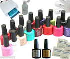 Kit Vernis A Ongle CCO UV, 10 CND Gomme Avec Lampe 36W
