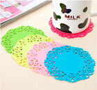 4x Tableware Placemat Silicone Coaster Pad Drinks Tea Cup Bowl Cushion Holder WF