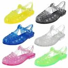 Ladies Classic Transparent Buckled Jelly Shoes