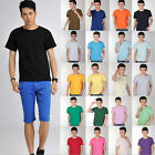 100% Cotton Short sleeve Autumn New 2014 Solid colors Tops Tee T-shirt S-3XL new