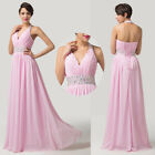 Sexy Long Women V Neck Bridesmaid Wedding Ballgown Prom Party Evening Long Dress