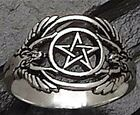 ANGEL RING Pentacle PROTECTION .925 Silver GUARDIAN Angel BLESSINGS ring