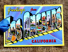 Hang Tags GREETINGS FROM LOS ANGELES POSTCARD TAGS or MAGNET #G 28  Gift Tags