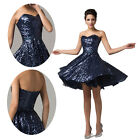❤Stunning❤Sequin Short Formal Evening Gown Bridesmaid Party Cocktail Prom Dress