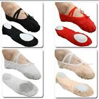 UK Stock New Comfortable Canvas Ballet Dance Flat Shoes for Children n Adults