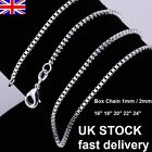 UK Stock Wholesale 10*Silver Plated Necklace Box Chain 16,18, 20, 22, 24 Inch