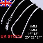UK Stock Wholesale 10*Silver Plated Necklace Snake Chain 16,18, 20, 22, 24 Inch