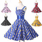 HOT SALE New ROCKABILLY Vintage 1950s style Party Short Prom Ball Swing Dress f1