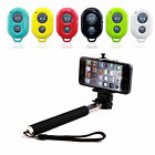 New Selfie Stick Monopod+ Bluetooth Shutter Remote for iPhone and Android