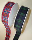 2m x Tartan Ribbon RED ROYAL STEWART - GREEN BLACK WATCH 16MM WIDE