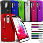 LG G3 Hard Back Protective Case Skin Cover, SP & Retractable Stylus Pen