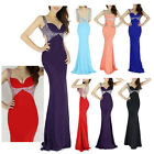 SLIM Mermaid Bridal Bridesmaid Evening Formal Party Ball gown Prom Wedding Dress