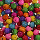 Mixed Coloured Wooden Beads Round Assorted Jewellery Craft Making 4mm 8mm New
