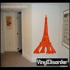 Paris Eiffel Tower Vinyl Wall Decal Or Car Sticker - pariseiffeltowerns002EY