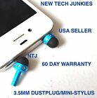MINI-STYLUS DUST PLUG 3.5mm headphone jack for iPhone 4s 5c 6 plus Galaxy s6+ s7