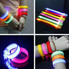 LED Light Up Wrist Band Party Rave Glow Pink Red Green Blue Yellow Orange Belts