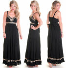 NEW MISS SELFRIDGE PETITE EMBELLISHED GYPSY COTTON MAXI DRESS 4 6 8 10 12