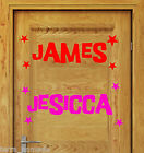 BOYS GIRLS DISNEY PERSONALISED NAME Sticker Laptop Wall Bedroom Door 10cm x 30