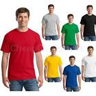 TRENDY Men's T-Shirt Blank Basic Plain TEE Short Sleeve Man Cotton Tops UK FO