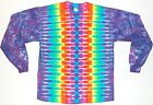 Adult Long Sleeve TIE DYE Neon Rainbow DNA T Shirt sm med lg xl hippie art