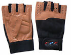Mens Weight Body Building  Leather Gym Gloves Half Finger