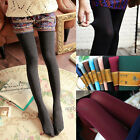 New Colorful Brushed Stretch Fleece Lined Essential Tights Warm Pants Leggings