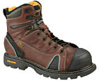 """Mens Work Boots Thorogood 6"""" Composite Safety Toe Brown Leather (D, M) 804-4445"""